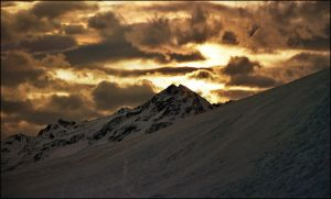 Sunset on Alps by jup3nep