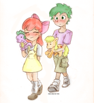 Applebloom + Spike First date by ClaireAnneCarr