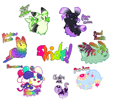 [Closed! Thank you!] Pride Month Charity Auction! by toripng
