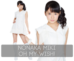 Nonaka Miki - Oh my wish! PNG Render Set by Supadackles