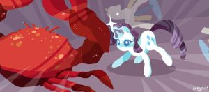 Rarity and her crab by cenyo