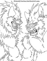 Werewolves LineArt by Firewolf-Anime