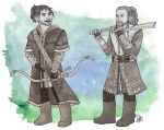 Fili and Kili - Training in Ered Luin by lilis-gallery