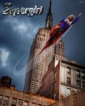 Supergirl in flight by 5red