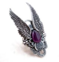 Dark Angel Ring Purple by Aranwen
