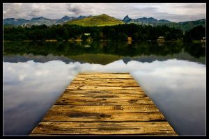 Lake Naverone Pier by Hacky-Sack