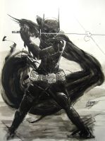 Cass and sword ink by AaronNSN