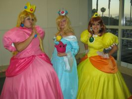 Princess Peach, Rosalina, and Daisy by sennalover294
