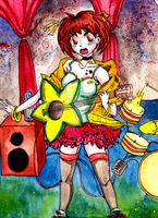 Haruhi is rocking the stage by MANGAdrawingMANIAC