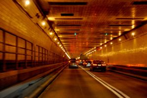 Driving through Lincoln Tunnel by FairieGoodMother
