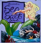 Lavender Sea Salt Scrub Mermaid by AethertechIndustries