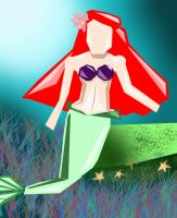 Abstract little mermaid by misskat345