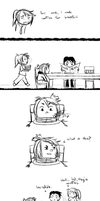 dumb comic about waffles by synderen