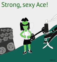 Ace is ready for workout! by DarkRoseDiamond123