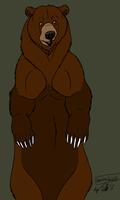Standing Grizzly by Hawaiifan
