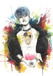 G-Dragon Fanart Watercolor Illustration by PoppinCustomArt