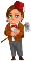 Chibi 11th Doctor by FuriarossaAndMimma