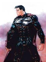Tim Burton Superman Suit 3 by RobertTheComicWriter