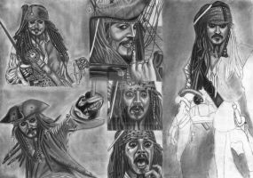 Jack Sparrow Compilation WIP 21 by diablocyrus