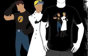 Dr Horrible White Coat T-Shirt by drg