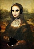 A different kinda Mona Lisa. by AspiringCrazyCatLady