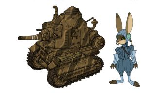 Bunny Tank by spacegoblin