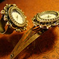 Clock Cocktail Ring + Hairclip by Om-Society