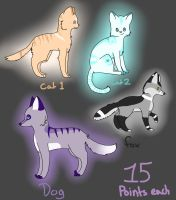 Adoptables by DarkNyra