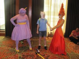 Animefest '12 - Finn, Flame and Lumpy by TexConChaser