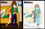 Before and After (2015 vs 2012) by Katsumi96Dokuro