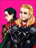 thor+loki by kitamiya
