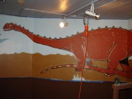 Dinosaur Mural WP 3 by gsilverfish