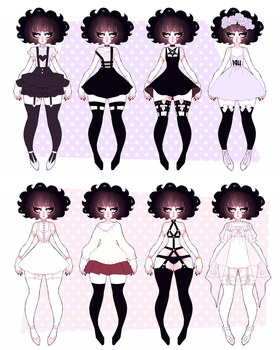 ash outfits 02 by dollieguts