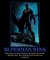 Superman Wins by TopcowImage2dF