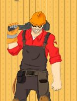 TF2 - Engineer colouring by DonnaHyena