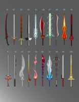 Swords: 81 - 100 by LucienVox