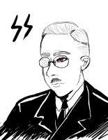 WW2: Portrait of a man - H. Himmler by ShinjuMarkez