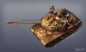 Girls und tank by Bahryi