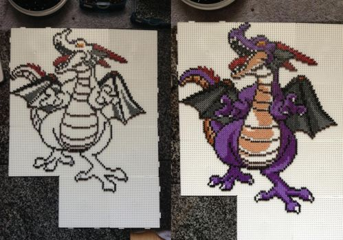 Custom Dragonlord WIP- Hama Bead Design by Dogtorwho