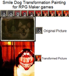 RPG Maker Smile Dog Painting by MrsFredWeasley7