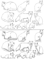 Free Cat Lineart 2 PAINT FRIENDLY by DikkeBobby