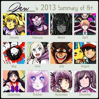 2013 Art Summary by Jen-Jen-Rose