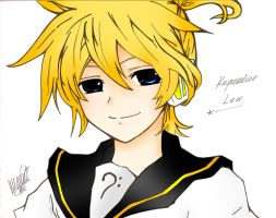 Kagamine Len Coloured by FienaMcKaren