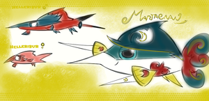 Helleribur and Martagnan new fish pokemon 3 by KingFlurry