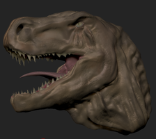 Tyrannosaurus Rex - First Completed zBrush Project by Pulsarium