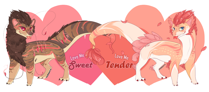 Love Me Valentines Event Pseudos by pseudodragons-den