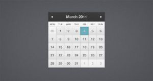 Pretty Little Calendar PSD by ormanclark
