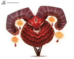 Day 821. Happy Lunar New Year! by Cryptid-Creations