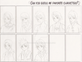 Guess My Fav. Characters Meme by ChaosSoda
