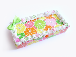Fruit Themed Decoden Box by Kuppiecake